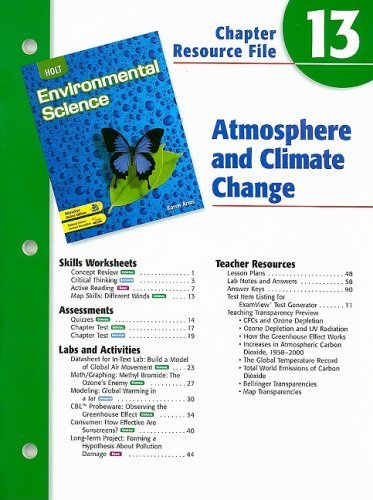 Holt Environmental Science Chapter 13 Resource File: Atmosphere and Climate Change