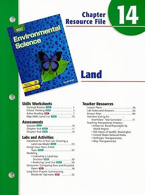 Holt Environmental Science Chapter 14 Resource File: Land