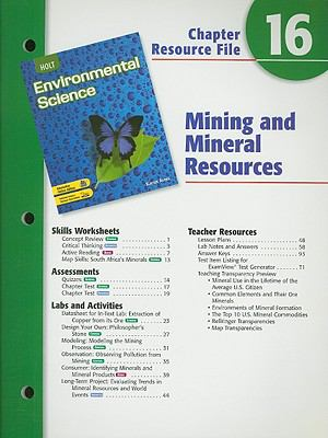 Holt Environmental Science Chapter 16 Resource File
