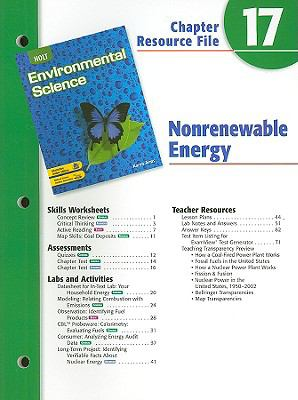 Holt Environmental Science Chapter 17 Resource File: Nonrenewable Energy