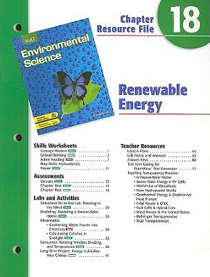 Holt Environmental Science Chapter 18 Resource File: Renewable Energy