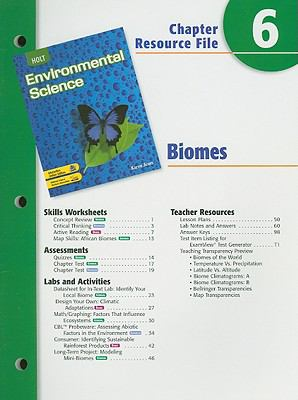 Holt Environmental Science Chapter 6 Resource File: Biomes