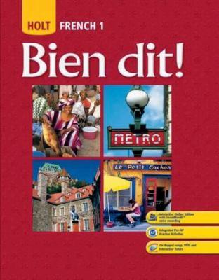 Holt French 1: Bien Dit! 9780030398889