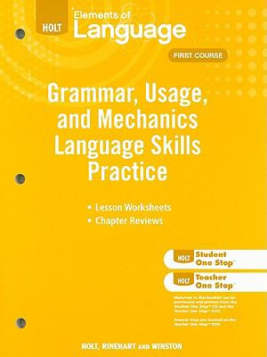 Holt Grammar, Usage, and Mechanics Lanugage Skills Practice