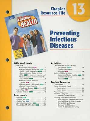 Holt Lifetime Health Chapter 13 Resource File: Preventing Infectious Diseases