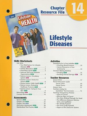 Holt Lifetime Health Chapter 14 Resource File: Lifestyle Diseases