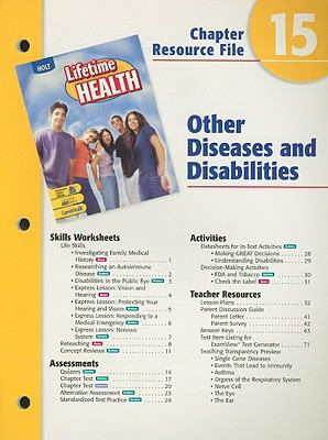 Holt Lifetime Health Chapter 15 Resource File: Other Diseases and Disabilities
