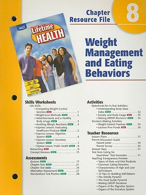 Holt Lifetime Health Chapter 8 Resource File: Weight Management and Eating Behaviors