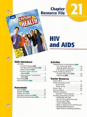 Holt Lifetime Health Chapter Resource File: HIV and AIDS