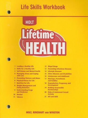 Holt Lifetime Health Life Skills Workbook