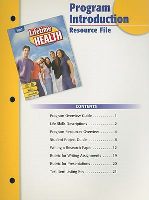 Holt Lifetime Health Program Introduction Resource File