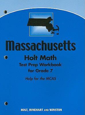 Holt Math Massachusetts Test Prep Workbook for Grade 7