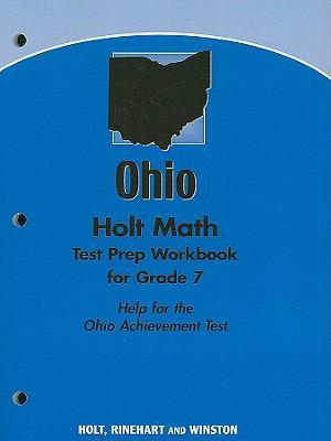 Holt Math Ohio Test Prep Workbook for Grade 7