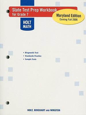 Holt Math State Test Prep Workbook for Grade 7 Maryland Edition