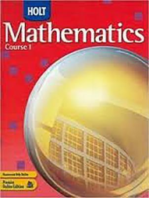 Holt Mathematics Louisiana: Test Prep Workbook Course 1