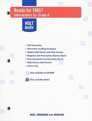 Holt Mathematics: Ready for TAKS?: Intervention for Grade 6