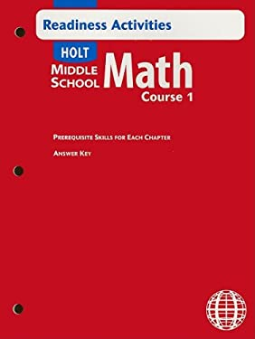 Holt Middle School Math Readiness Activities, Course 1 9780030692345