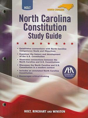 Holt North Carolina Constitution Study Guide