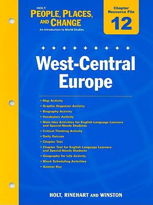 Holt People, Places, and Change Chapter 12 Resource File: West-Central Europe