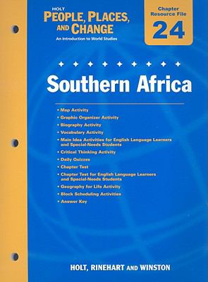 Holt People, Places, and Change Chapter 24 Resource File: Southern Africa