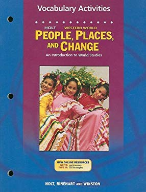 Holt People, Places, and Change: Vocabulary Activities: Western World; An Introduction to World Studies
