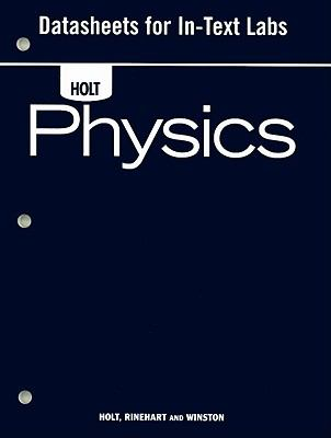 Holt Physics Datasheets for In-Text Labs