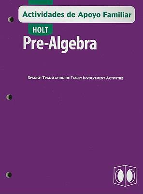Holt Pre-Algebra Actividades de Apoyo Familiar