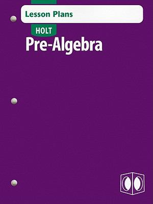 Holt Pre-Algebra Lesson Plans