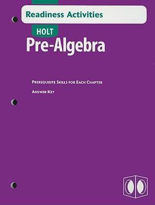 Holt Pre-Algebra Readiness Activities