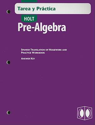 Holt Pre-Algebra Tarea y Practica