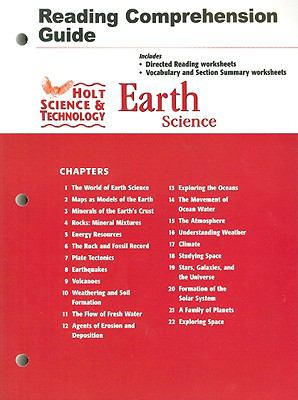 Holt Reading Comprehension Guide: Science & Technology, Earth Science