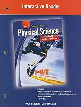 Holt Science Spectrum Interactive Reader: Physical Science with Earth and Space Science