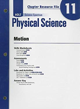 Holt Science Spectrum Physical Science Chapter 11 Resource File: Motion