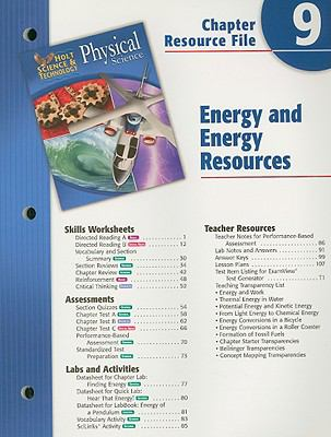 Holt Science Spectrum Physical Science Chapter 9 Resource File: Energy and Energy Resources