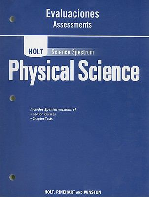 Holt Science Spectrum Physical Science Evaluaciones Assessments