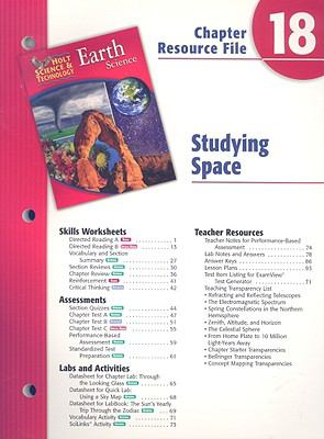 Holt Science & Technolgy Earth Science Chapter 18 Resource File: Studying Space