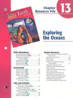 Holt Science & Technology Chapter 13 Resource File: Exploring the Oceans