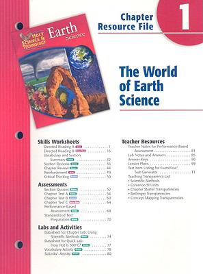 Holt Science & Technology Earth Science Chapter 1 Resource File