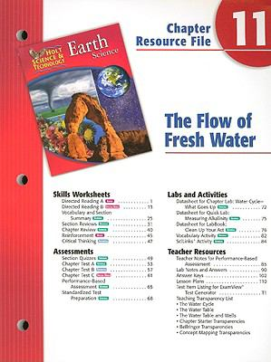 Holt Science & Technology Earth Science Chapter 11 Resource File: The Flow of Fresh Water
