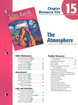 Holt Science & Technology Earth Science Chapter 15 Resource File: The Atmosphere