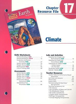 Holt Science & Technology Earth Science Chapter 17 Resource File: Climate