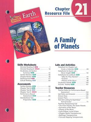 Holt Science & Technology Earth Science Chapter 21 Resource File: A Family of Planets