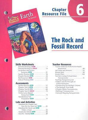 Holt Science & Technology Earth Science Chapter 6 Resource File: The Rock and Fossil Record