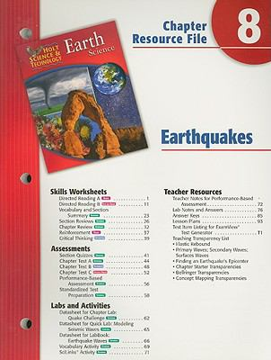 Holt Science & Technology Earth Science Chapter 8 Resource File: Earthquakes