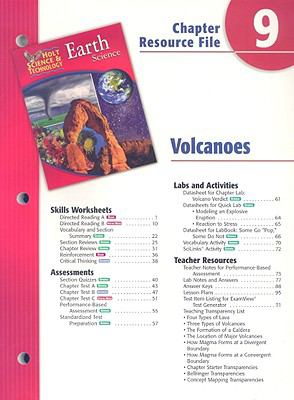 Holt Science & Technology Earth Science Chapter 9 Resource File: Volcanoes