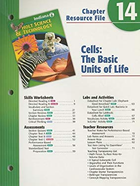 Holt Science & Technology Indiana Grade 6 Chapter 14 Resource File: Cells: The Basic Units of Life