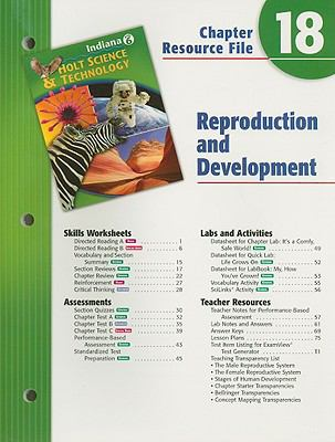 Holt Science & Technology Indiana Grade 6 Chapter 18 Resource File: Reproduction and Development
