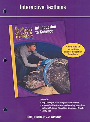 Holt Science & Technology Introduction to Science: Interactive Textbook