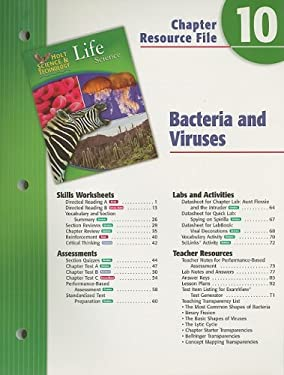 Holt Science & Technology Life Science Chapter 10 Resource File: Bacteria and Viruses