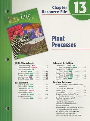 Holt Science & Technology Life Science Chapter 13 Resource File: Plant Processes